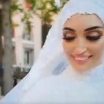 Explosión en Beirut sorprende a novia en medio de sesión fotográfica