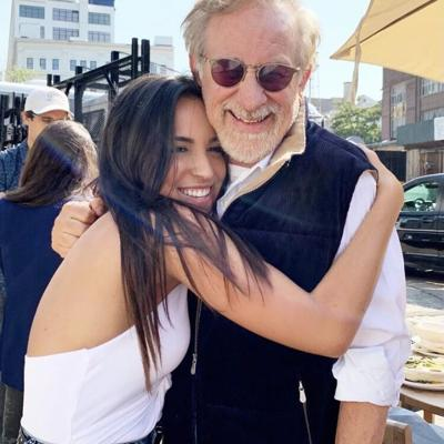 Ana Isabelle y Steven Spielberg