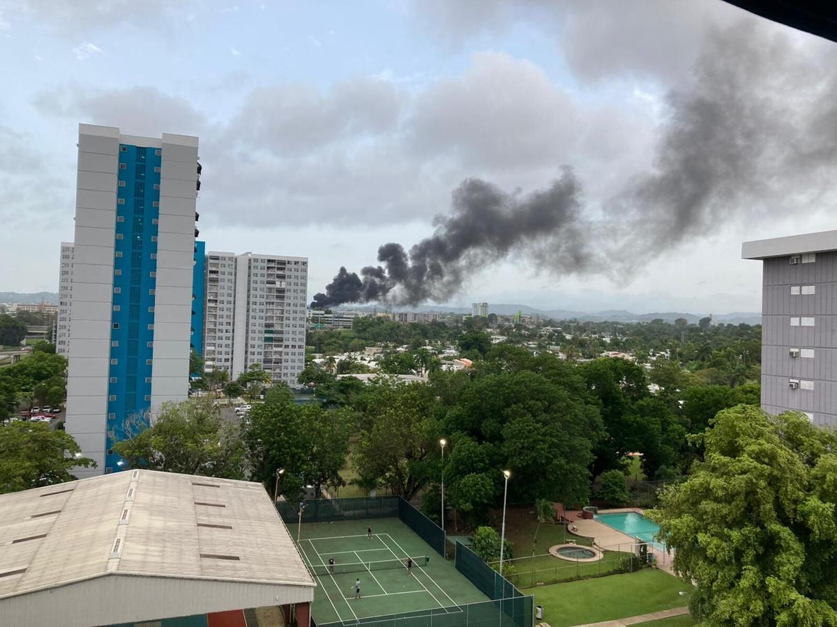 fuego subestación en Monacillos
