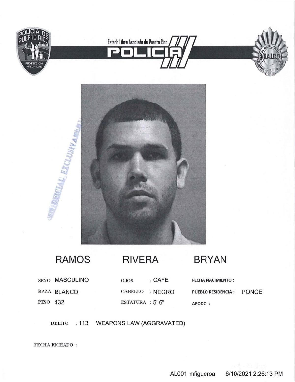 Ficha por Ley de Armas de Bryan Ramos Rivera