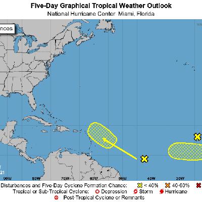 El CNH monitorea varios sistemas en el Atlántico