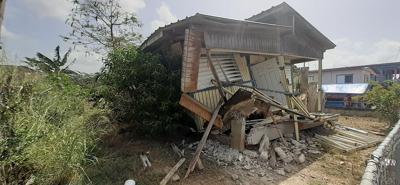 Alcalde de Lajas confirma el colapso de una residencia tras sismo