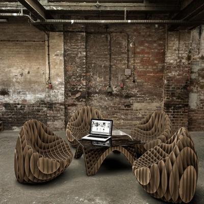 Ingenioso  mobiliario  sostenible