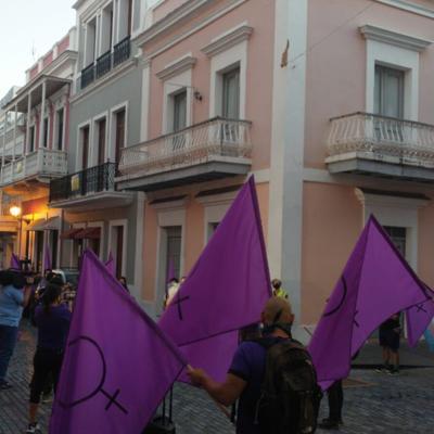Coalición 8 de marzo se manifiesta frente a La Fortaleza