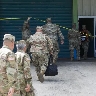Guardia Nacional hace inventario de suministros encontrados en Ponce