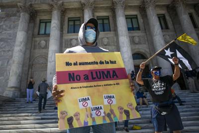 Manifestacion, AEE, LUMA, Autoridad de Energia Electrica, Privatizacion, Capitolio