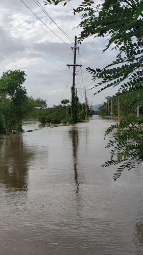 inundación en Santuario Cabo Rojo
