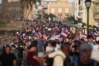 Viejo San Juan atestigua la indignación de manifestantes