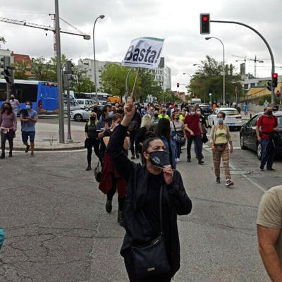 Protestan en Madrid por nuevas restricciones por coronavirus