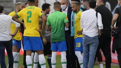 Ridículo histórico en el partido de fútbol entre Argentina y Brasil