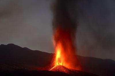 La lava pierde velocidad en la isla española de La Palam