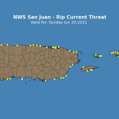 Servicio Nacional de Meteorología advierte sobre riesgo moderado de corrientes marinas