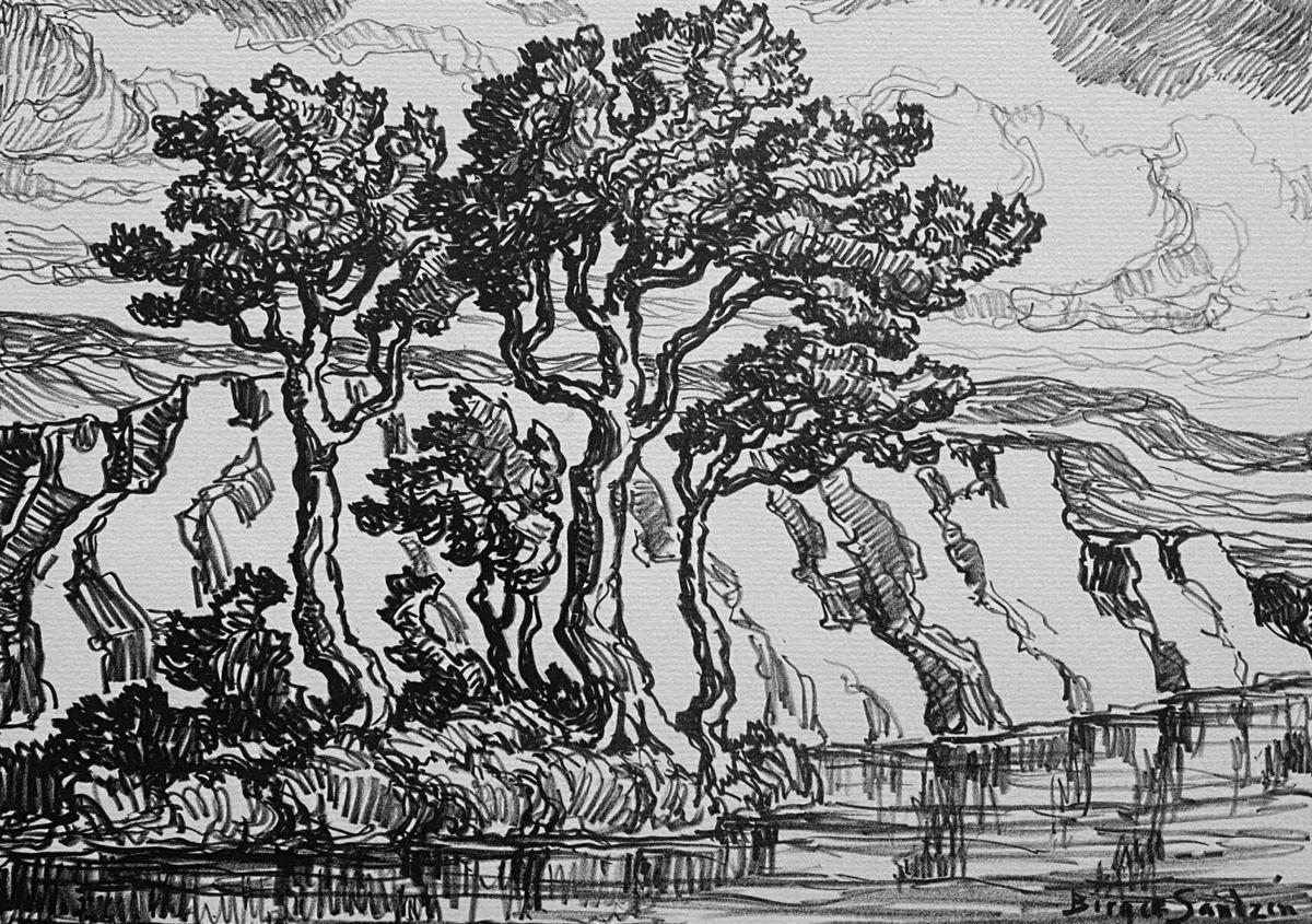A Kansas Creek by Birger Sandzen.jpg