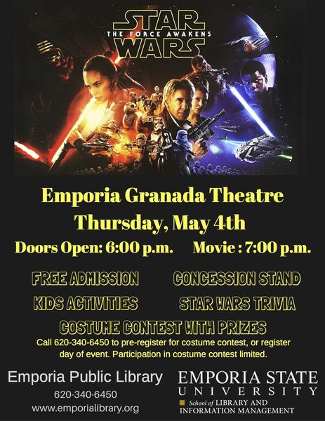 Star Wars The Force Awakens To Be Shown At Granada Theatre