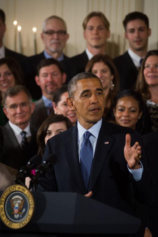President Barack Obama addresses top educators