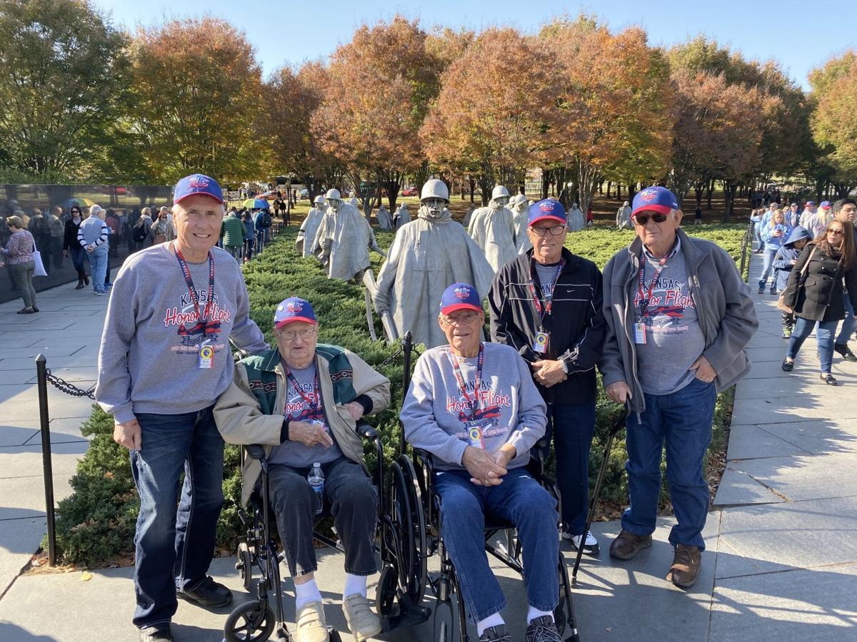 Korean War Era Veterans at the Korean War Memorial.JPG