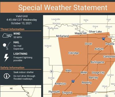 Weather statement map 10/13/21