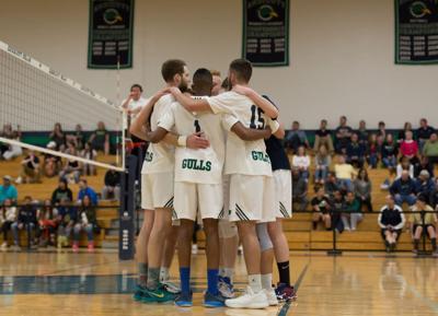 Men's Volleyball Championship Huddle