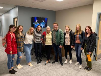 Comm Students With Melissa Ludtke