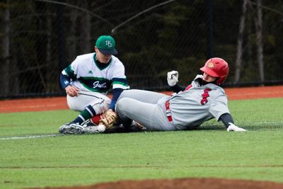 Slide at Third Baseball