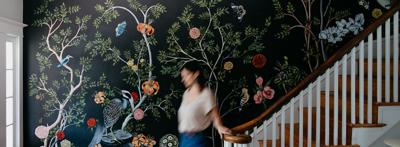 Artist Naomi McCavitt is transforming walls into uncanny natural landscapes