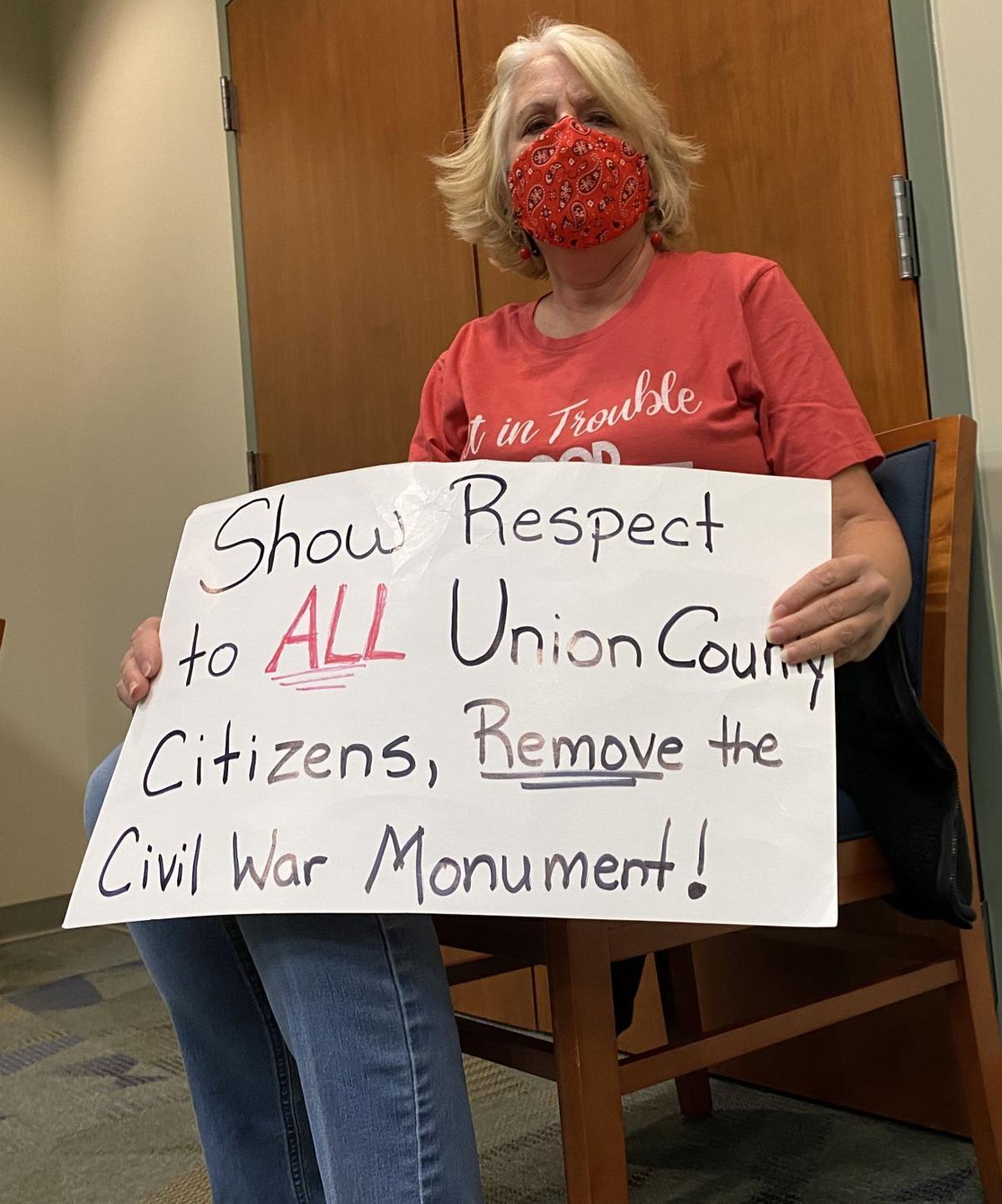 confederate monument sign