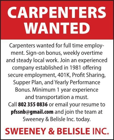 Carpenters Wanted