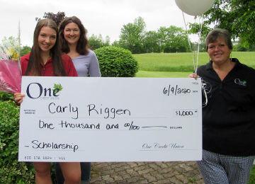 carly riggen one cu scholarship