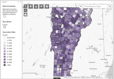 Vermont Vax Data 7/22/21