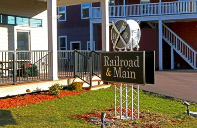 Railroad & Main Roadway Sign