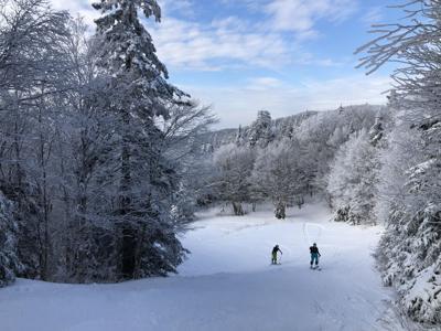 Bolton Valley skiing