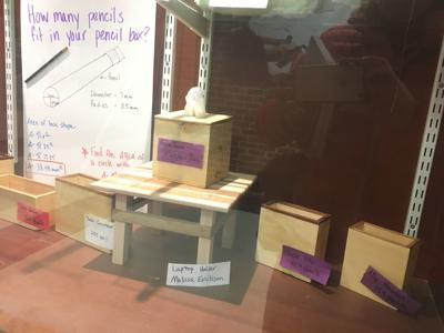 EMS students apply math, engineering to wooden structures