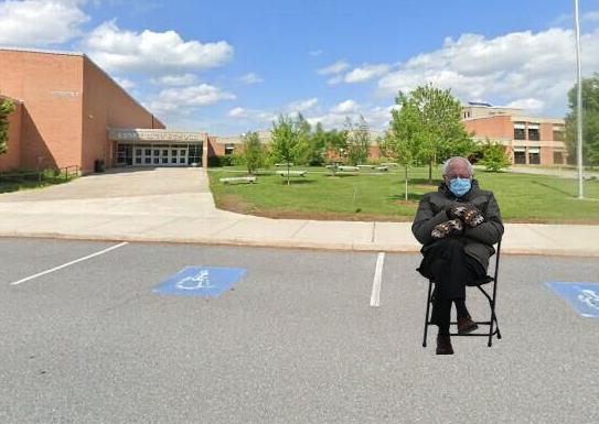 Bernie sits at EHS