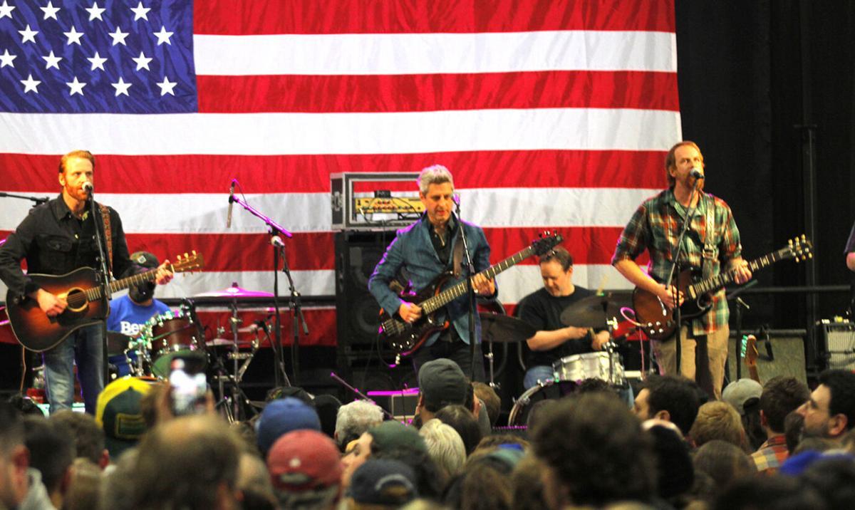 Mike Gordon at Bernie Sanders' rally