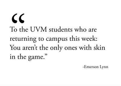 To UVM students: What's at stake