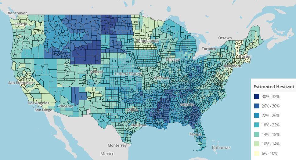 vaccine hesitancy map