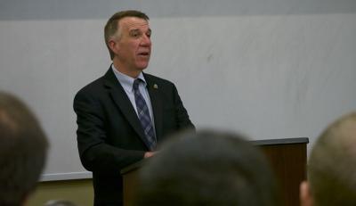 Gov. Phil Scott at Saint Michael's College, 4-9-2019