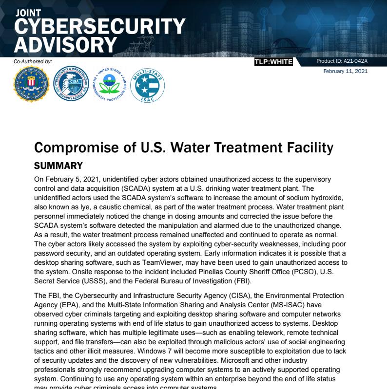 FBI Cybersecurity Advisory