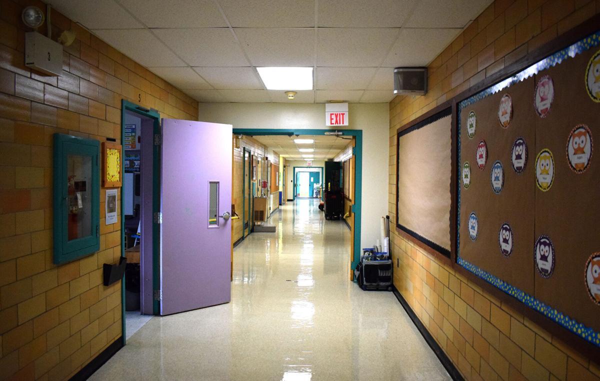 Inside school: Hallway