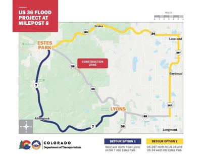 US Hwy 36 To Close - Detour Map