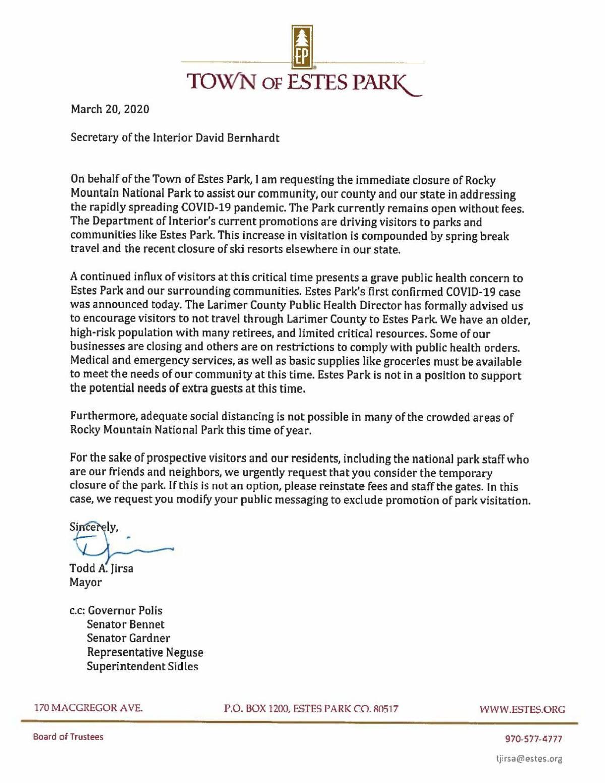 Todd Jirsa Letter