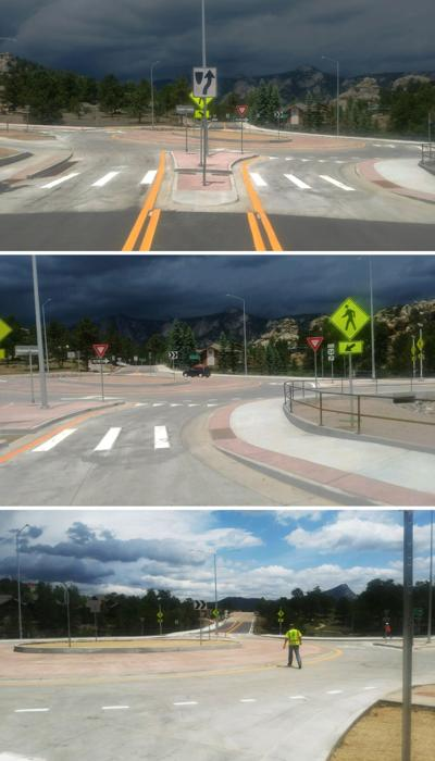 US 34 and MacGregor Ave Roundabout In Estes Park Opens Early