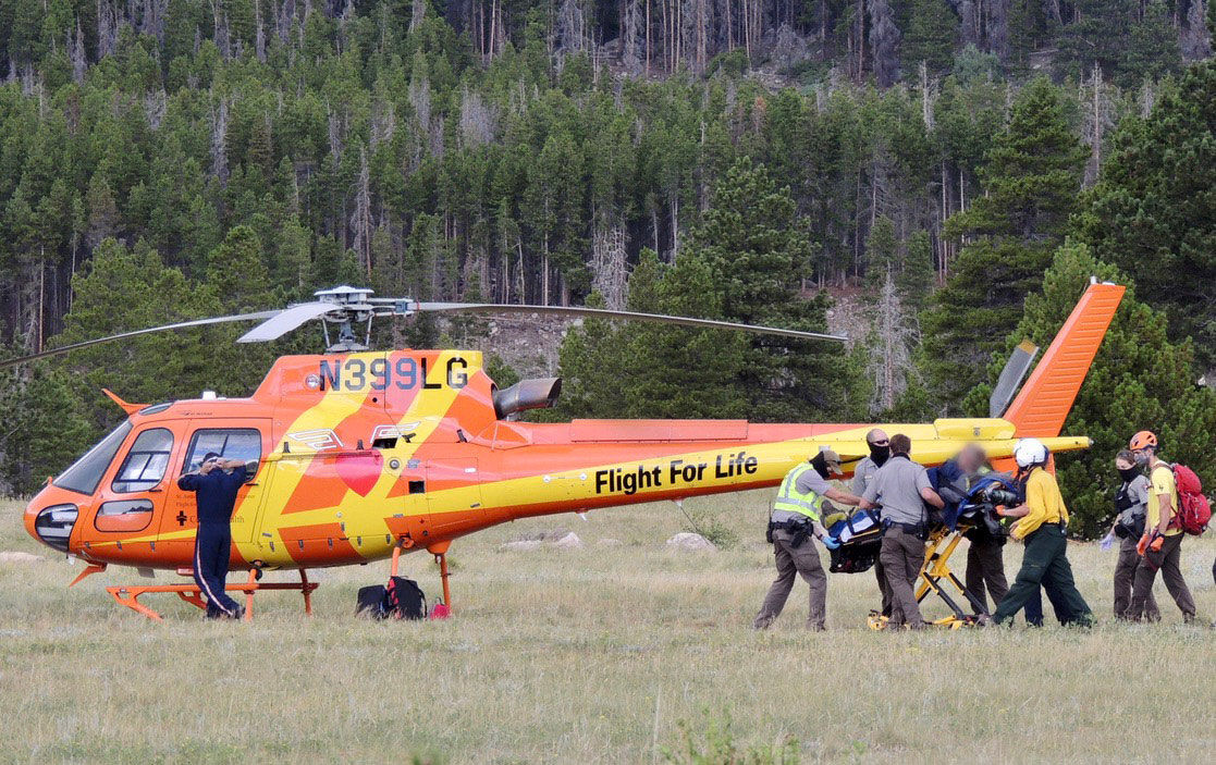 Helicopter Rescue Rocky Mountain National Park - RMNP