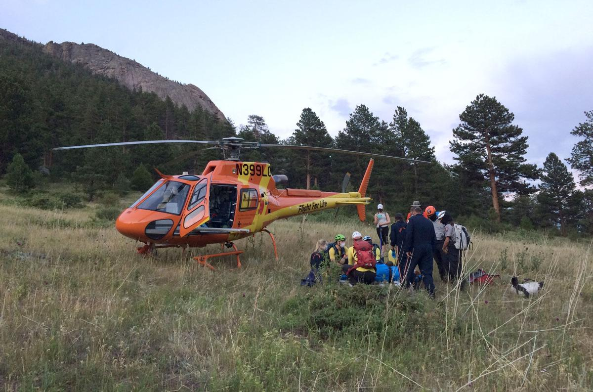 Injury From Fall At Bridal Veil Falls In Rocky Mountain National Park - Helicpoter