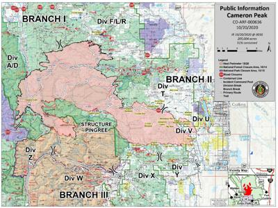 Cameron Peak Fire Map, October 20, 2020