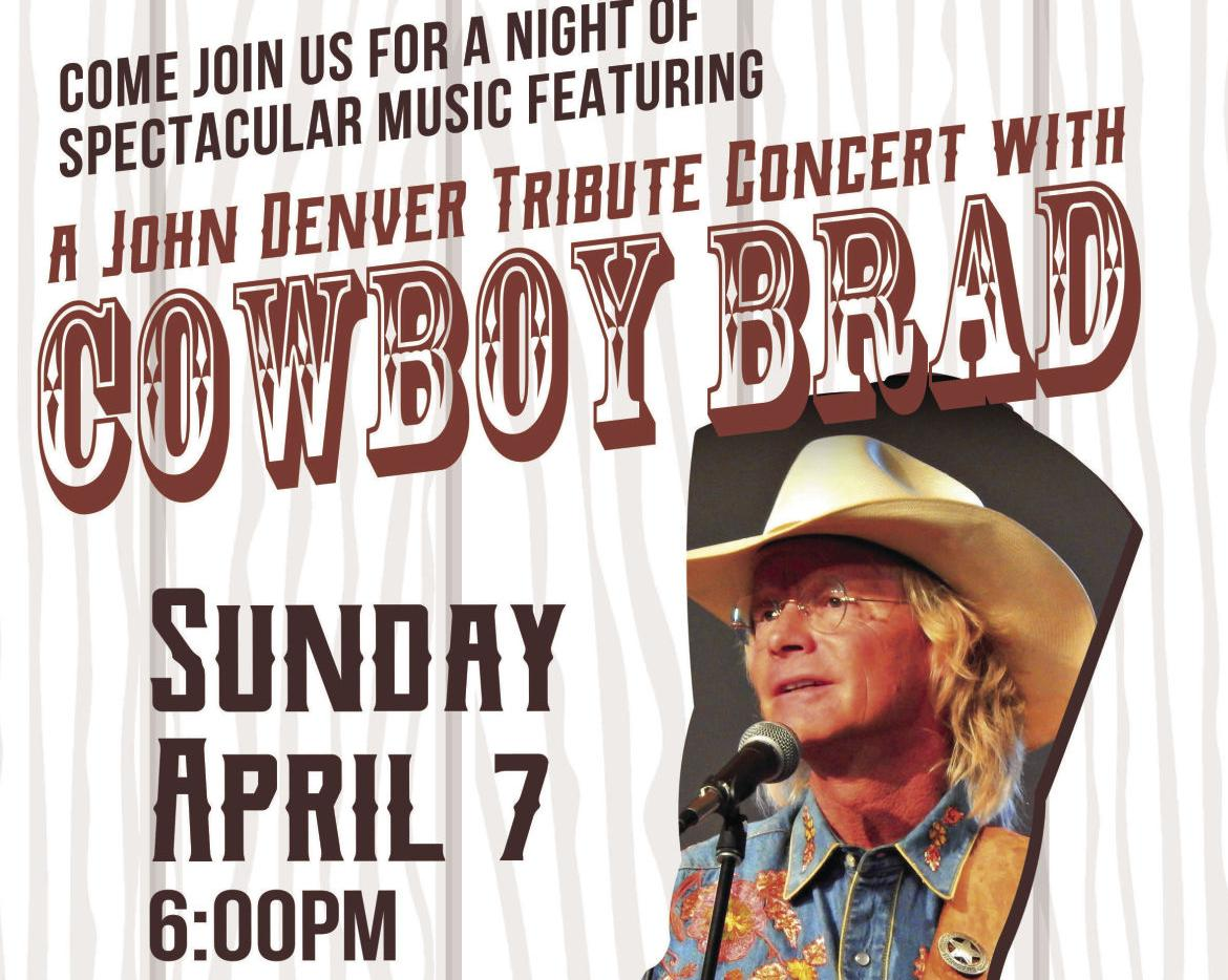 Crossroads Fundraising Concert With Cowboy Brad April 7th
