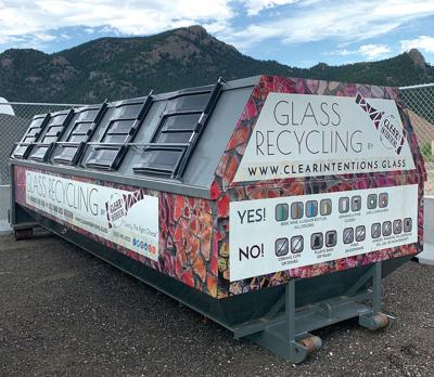 New 20-foot Glass Collection Roll-off  In Residential Recycling Center