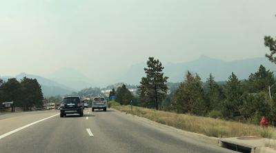 Smoke from the Cameron Peak Fire, September 2020