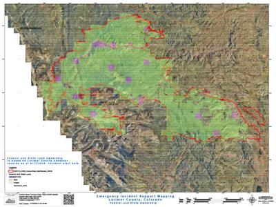 Cameron Peak Fire Map, Nov. 16, 2020