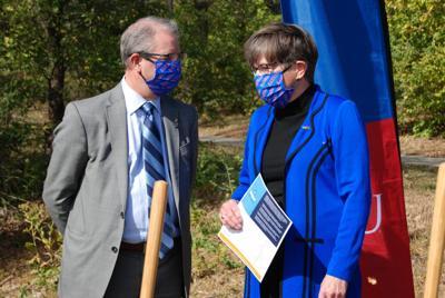 Gov. Kelly and KU chancellor